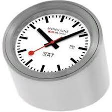 buy mondaine tube desk clock a667 tube 80sbb at j herron and son