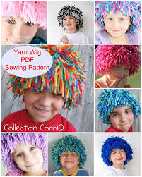 Sewing Patterns Halloween Costumes Diy Yarn Wig Sewing Pattern Halloween Kids Costume Wig Tutorial