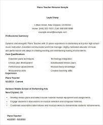 Music Teacher Resume Template Teacher Resumes 26 Free Word Pdf Documents Download Free