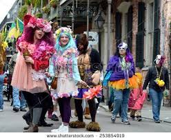 new orleans costumes new orleans lafebruary 17 party stock photo 253854919