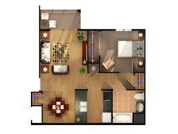 One Bedroom Floor Plans Williams Estates Apartments