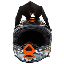 helmet motocross oneal new 2017 mx 7 series evo camo matte grey orange motocross