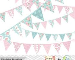 Shabby Chic Banner by Bunting Banner Clip Etsy