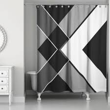 Black White Gray Curtains Buy Black And White Fabric Shower Curtains From Bed Bath Beyond