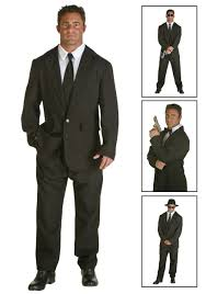 Scarface Halloween Costume Mens Black Suit Costume