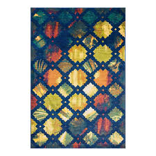 Fireplace Vacuum Lowes by Shop Loloi Lyon Blue Multi Rectangular Indoor Area Rug Common 7