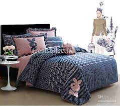 Queen Size Duvet Insert Embroidered Cute Rabbit Queen Full Size Bedding Sets For Girls