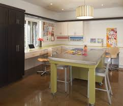 room basement contemporary with stainless steel countertops