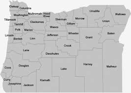 oregon county map oregon of state county records inventories