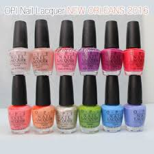 opi nail lacquer new orleans 2016 spring summer collection set 12