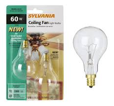 ceiling fan light bulbs sylvania 2 pack 60 watt a15 ceiling fan light bulbs ceiling fan