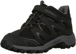 merrell boys u0027 mi hilltop mid quick close high rise hiking boots