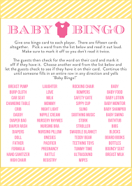 baby shower bingo free baby shower bingo printable cards for a girl baby shower