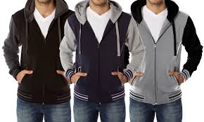 65 off on men u0027s zip up varsity hoodie groupon goods