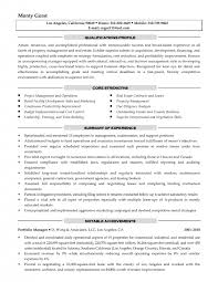 Sample Resume Property Manager by Resume Property Manager Resume Sample