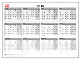 Kalender 2018 Für österreich Kalender Zum Ausdrucken 2018 österreich
