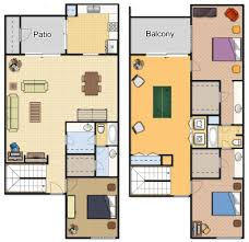 three bedroom apartment floor plans santa monica apartments floor plans