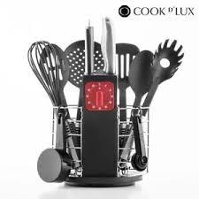 cuisine ustensile ustensiles de cuisine avec minuteur et support cook d 24 pièces
