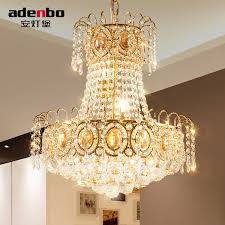 Dining Room Crystal Chandeliers Aliexpress Com Buy Modern Gold Led Chandelier Lighting Fixture