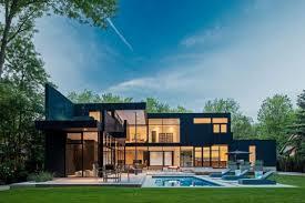 modern green house modern glass house in ontario