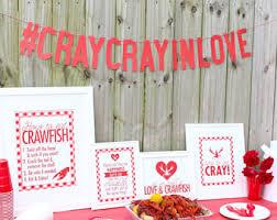 crawfish boil decorations cray cray etsy