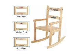 Kids Personalized Chairs 2 Slat Kids Rocking Chair U2013 Natural Personalized Cool Kids Chairs