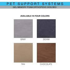 Foam Dog Bed Pet Support Systems Ultimate Luxury Gel Memory Foam Orthopedic Dog