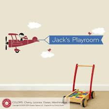 Name Wall Decals For Nursery by Airplane Boy Name Banner Wall Decal Graphic Spaces
