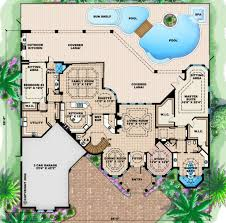 mediterranean style house plan 4 beds 4 50 baths 7948 sq ft plan