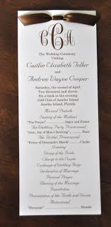 wedding program card stock sle wedding programs caitlin andrew wedding programs