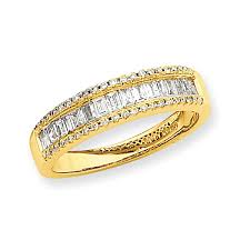 gold diamond band 14k yellow gold diamond wedding band salmajewelry