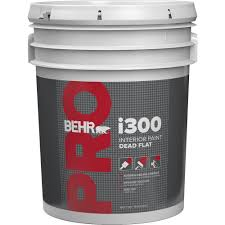 Interior Paint Colors Home Depot by Behr Pro 5 Gal I300 White Flat Interior Paint Pr31005 The Home