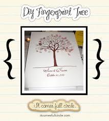 diy fingerprint tree tutorial with free printable wedding decor