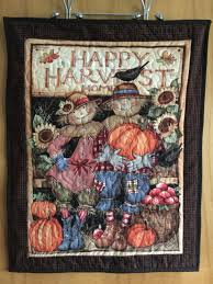 scarecrow wall hanging quilt quilted scarecrow fiber