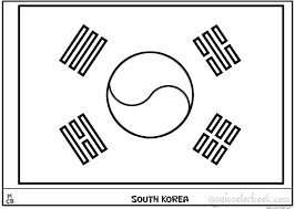 south korea flag coloring pages free