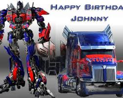 transformers cake toppers image topper your photo frame frosting transformers cake etsy