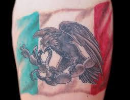mexican tattoos mexican flag tattoo design for men a a
