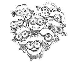 love minion coloring printable coloring kids