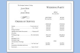 program template for wedding simple wedding program template template