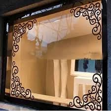 showcase glass window angle background decoration removable mirror