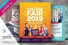 college fair flyer templates flyer templates creative market