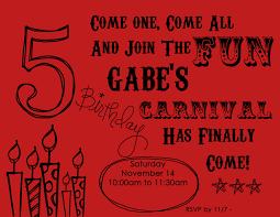 5th birthday invitation red slightly cosmopolitan