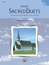 simply sacred duets book 1 piano duet 1 piano 4 book