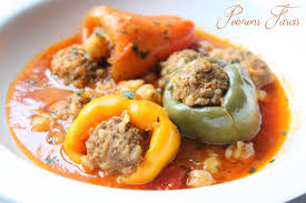 recette de cuisine plat poivrons farcis a la viande hachée sauce recettes faciles