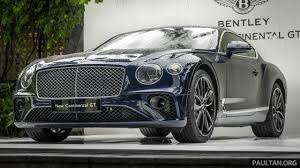new bentley mulsanne 2018 bentley continental gt previewed in singapore