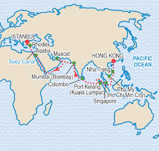 Suez Canal World Map by World Cruise 2017 Hong Kong To Istanbul Craig Travel