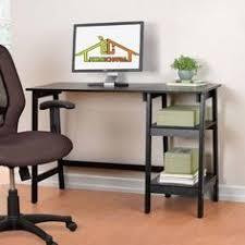 Rattan Computer Desk Cherrytree Furniture 4 Tier Shelves Computer Desk Home Office