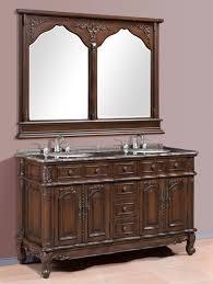 bathroom classic brown 60 inch double bathroom vanities with two