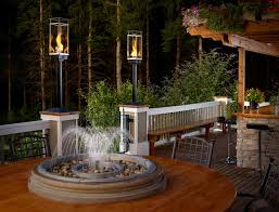 Yard Lighting Design Tempest Torch Outdoor Gas Lamps And Lighting