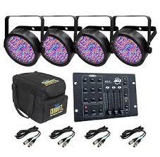 chauvet slimpar 56 led light 4 chauvet slimpar 56 led dj lights chs sp4 rgb3c controller 4